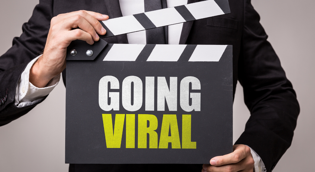 clapperboard with going viral in large letters